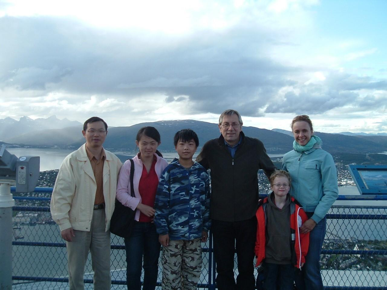 Dr. Ni and family on vacation.