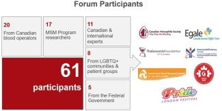 Graphic of how many participants for the MSM Knowledge Synthesis Forum