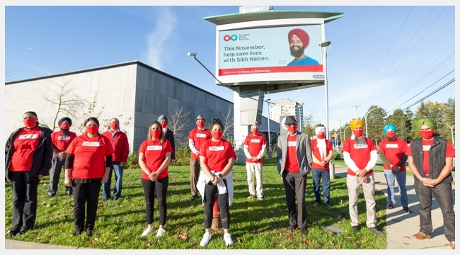 Sikh Nation volunteers B.C. and Yukon region, one of the organization's largest donor groups in the country